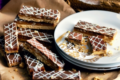Double Chocolate and Salted Caramel Slice