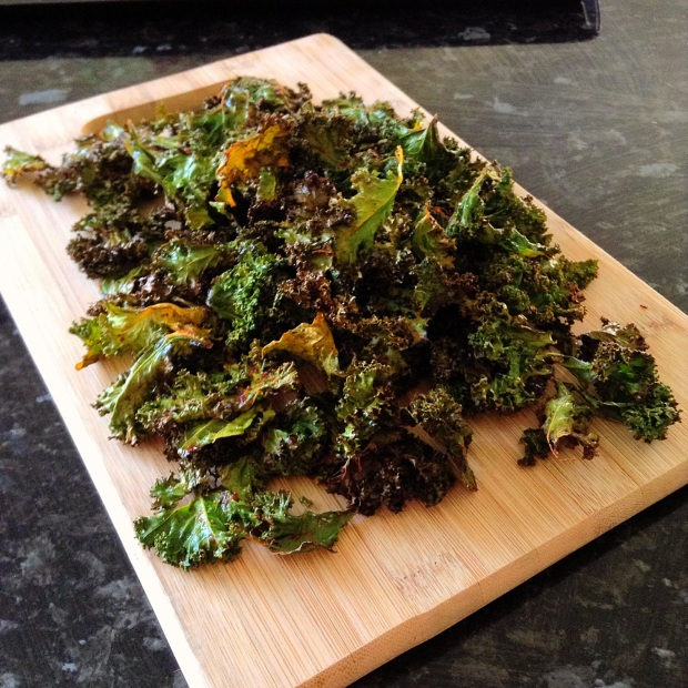Chilli and Garlic Kale Chips