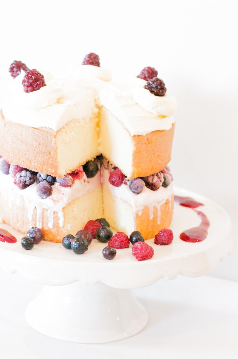 Frozen Berry Sponge Cake