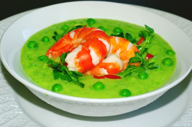 Pea and Avocado Gazpacho