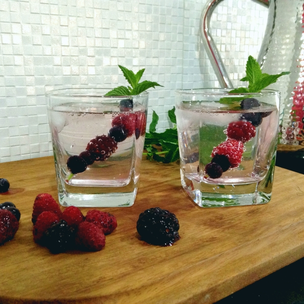 Three Berry Cocktail Swizzles