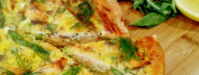 Salmon, Asparagus and Leek Quiche