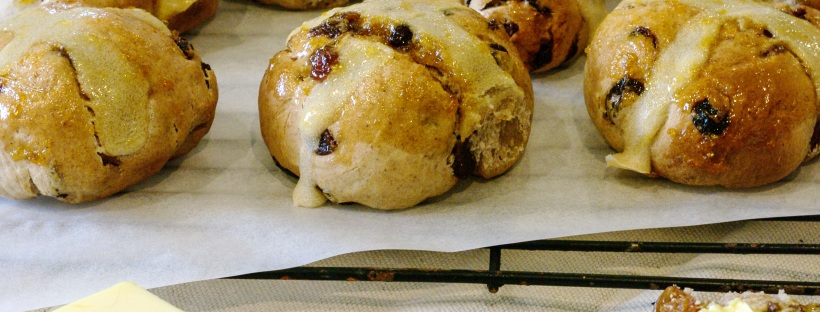 Apricot Hot Cross Buns