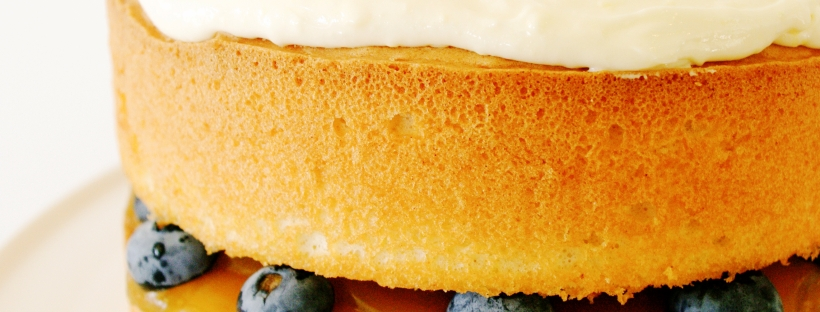 Lemon and Blueberry Sponge Cake
