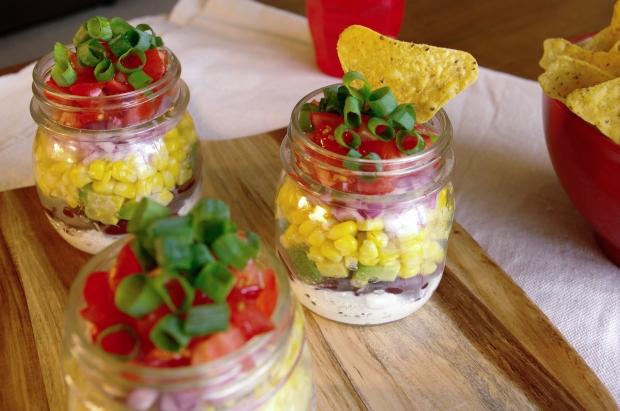 Mexican Dip in Jars