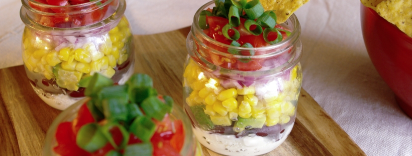 Mexican Dip in Jars