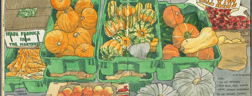 Winter Vegetable Sketch