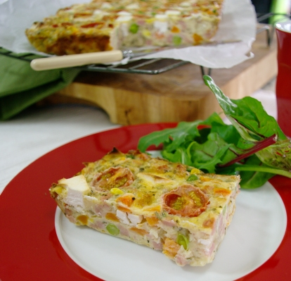 Ham and Veggie Slice