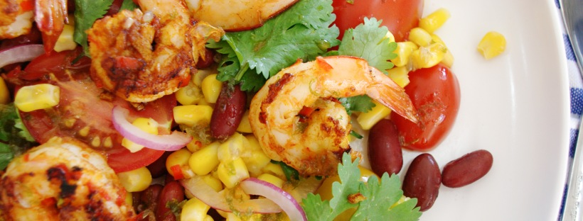 Mexican Prawn and Corn Salad