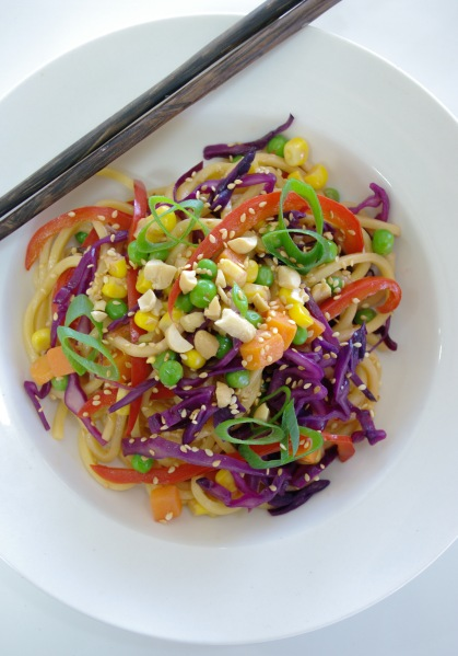 Vegetarian Rainbow Noodles