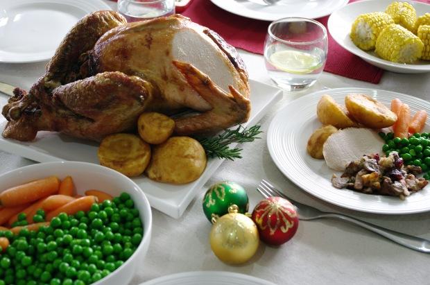 Christmas Roast Turkey with Mushroom Stuffing