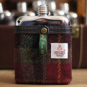 Swig Flasks, Harris Tweed Range