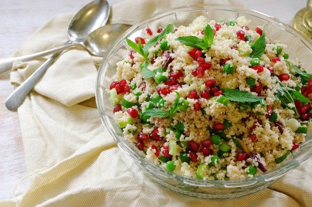 Pea and Pomegranate Salad