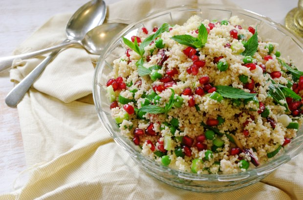 Pea and Pomegranate Salad