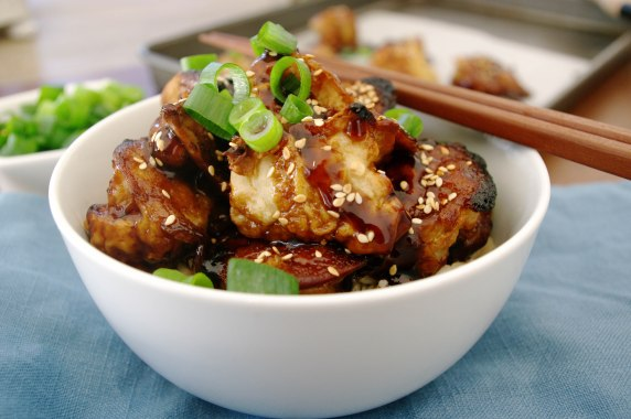 Sweet and Spicy Sesame Cauliflower